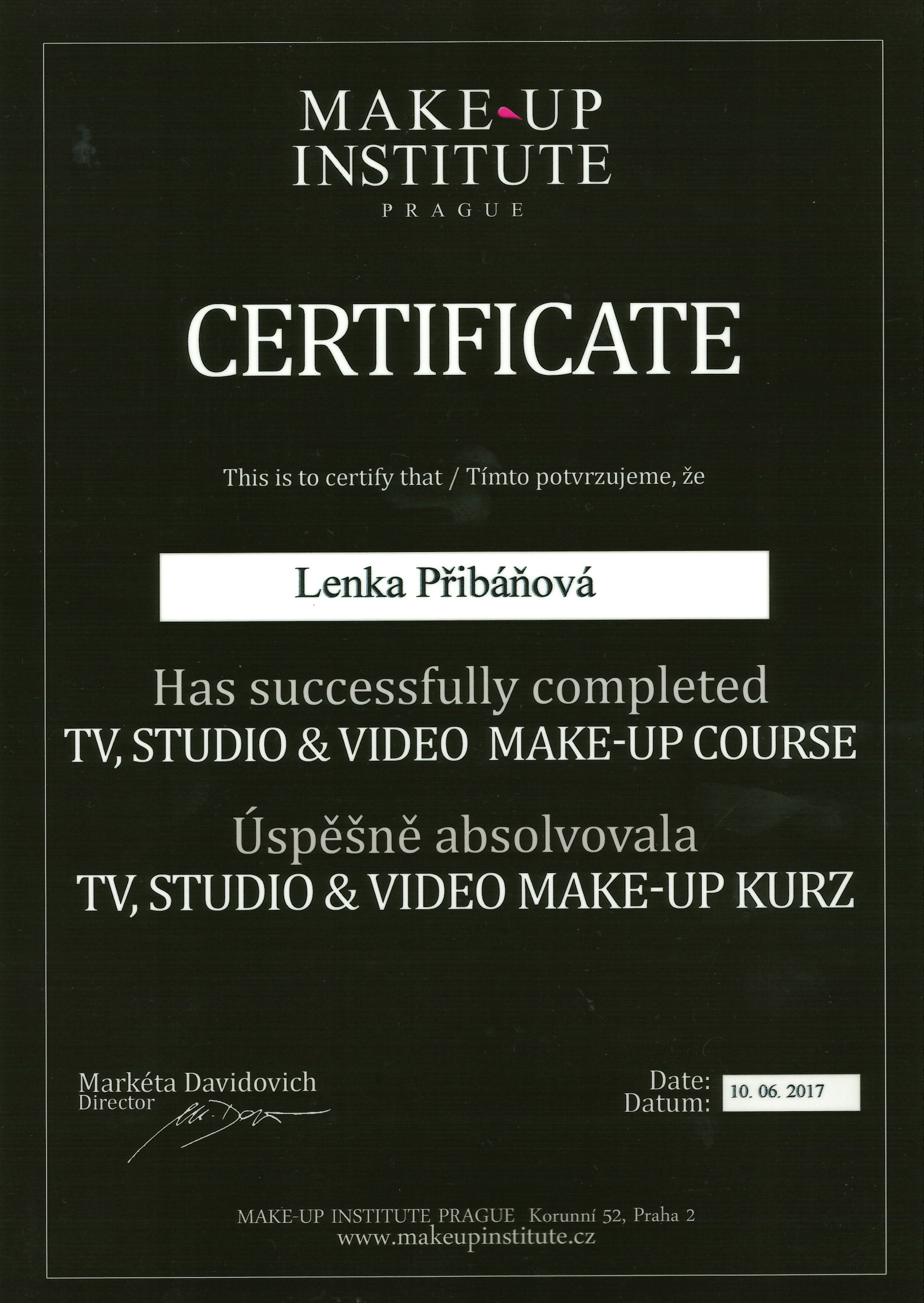 Certifikat-tv-a-video